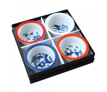 Schalen Hollands Blauw in cadeau doos