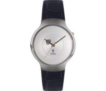 Alessi heren horloges van RVS zwart leer  door Marcel Wanders