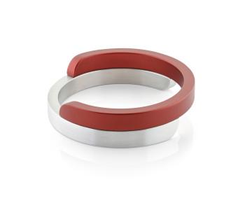 Dutch Design armbanden van Clic Creations in aluminium en rood