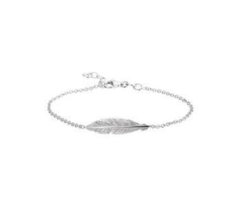 Corina Rietveld mode armband zilver met veer: cadeautip