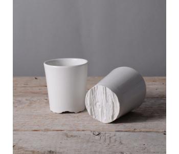 design servies, koffie kopje wit porselein van Fenna Oosterhoff