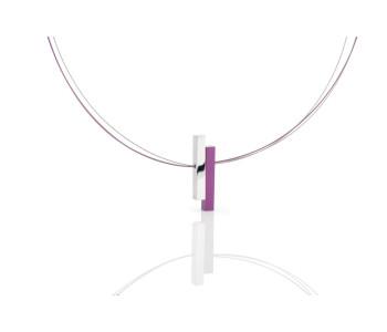 Paarse ketting voor vrouw van Clic Creations handgemaakt dutch design sieraad