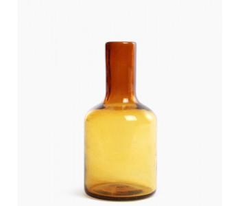 Cantel glazen fles in de kleur amber
