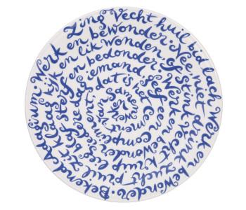 Diskus bord met tekst over samenwerken; bijzonder cadeau voor een relatie, jubileum of collega