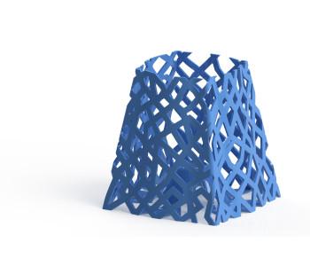 3D geprinte EoN tafellamp in blauw