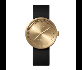 Cadeautip: Tube D38 horloge van Piet Hein Eek voor LEFF Amsterdam met messing kast en zwart leren band