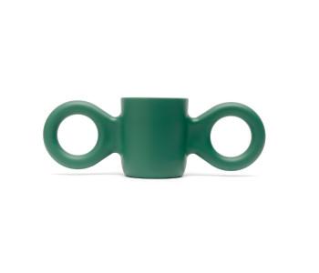 Gispen Domoor bekers in groen plastic door Richard Hutten