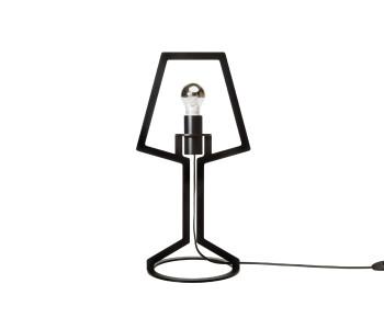 Gispen Outline tafellamp van zwart staal door Peter van de Water