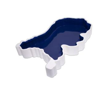 Schaal van Royal Goedewaagen Holland Box blauw ontwerp Sander Alblas