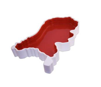 Royal Goedewaagen Holland Box schaal in de vorm van Nederland in rood