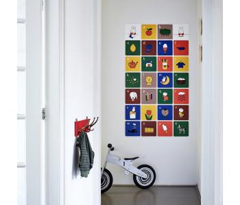 Nijntje alfabet muurdecoratie