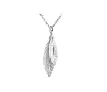 Cadeautip: Fashion collier met veertjes in het zilver