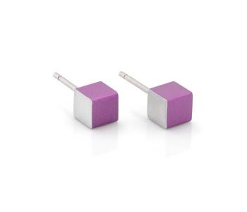 Dutch Design Clic Creations oorbellen in alu en paars