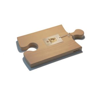 OOOMS Puzzel snijplank XL een leuke broodplank in de vorm van een puzzelstuk