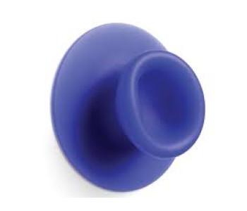 Sucker; een zuignap haakje in de kleur blauw
