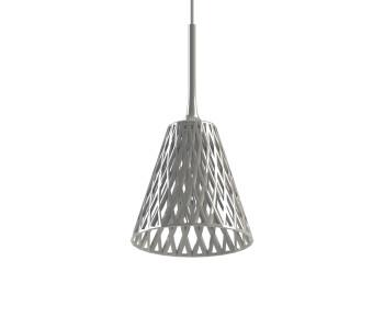 Glanzend witte Wicker hang lamp uit de 3D printer