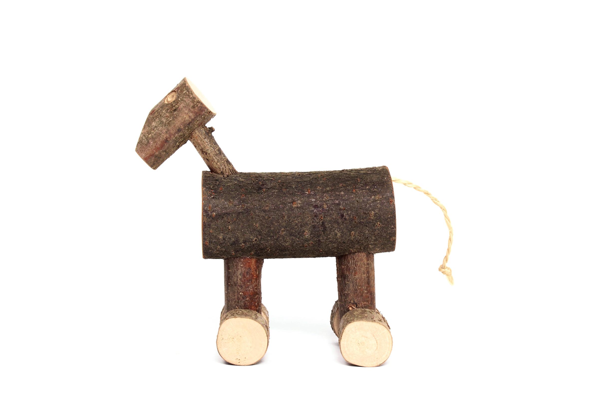 Happy horse op wielen van usuals bij - Houten doos op wielen ...