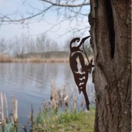 Metalen vogel Specht van Metalbird voor in je tuin