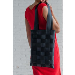 Sweatshop Deluxe tassen, Autogordel shopper, sustainable tas, zwarte shopper, sustainable tas