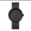 Zwart horloge tube D38 van staal voor stalen mannen met LEFF Amsterdam