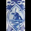 Delfts blauw schilderwerk molen op kerstbal Royal Delft