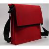 LH58 A4 vilten schoudertas in de kleur rood: Mondriaan stijl