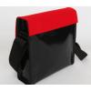 Schoudertas Remo met een vilten klep in de kleur rood: leuk cadeau in Mondriaan stijl