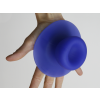 Droog design zuignap als haak in blauw