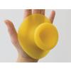 Droog zuignap haakjes Sucker in de kleur geel