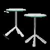 Witte glazen tafels Tripodi Kaskando