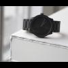 Tube S38 horloge van zwart staal van LEFF Amsterdam by Piet Hein Eek