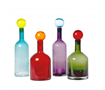 Vases, decorative bottles, colored cafes from Pols Potten