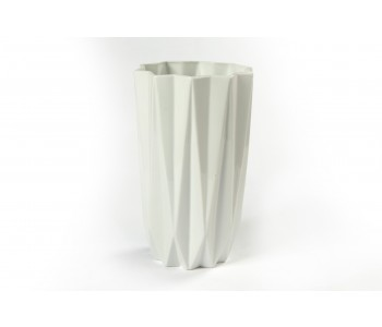 Origami large folding vase fair trade white forward