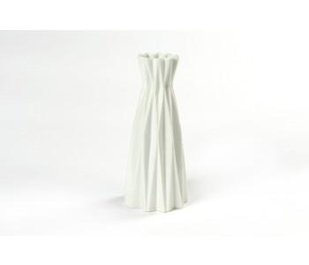 Origami vase fair trade white forward