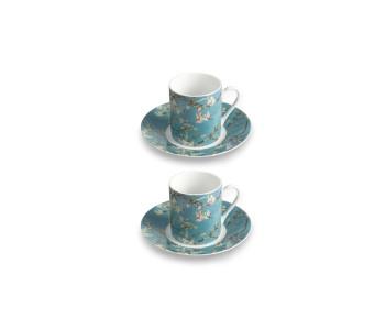 Vincent van Gogh porcelain espresso cups