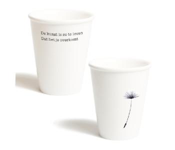 plint poetry, beaker with poem, Martin Bril, Kees Hermis