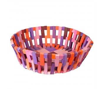 Pols Potten basket red made of recycled material of flipflop slippers