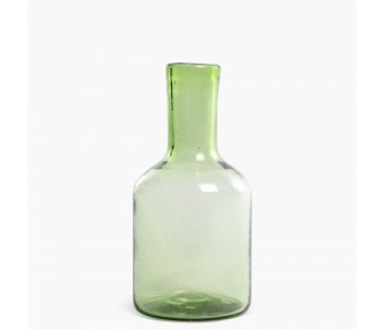 Cantel bottle carafe 25 centimeters in color green