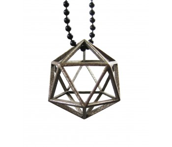 Holland design, 3D print, 3D printed jewellery, hanger geometrical stainless