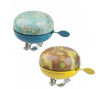 Dutch design large Dutch bicycle bells with Van Gogh print Almond Blossom or Sunflowers