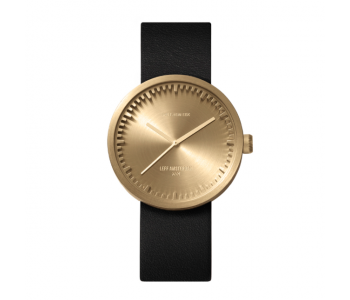 Special gift suggestion: Tube D38 watch by Piet Hein Eek for LEFF Amsterdam - brass body & black strap
