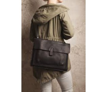 Laptop Bag Head Office by Keecie in gray brown