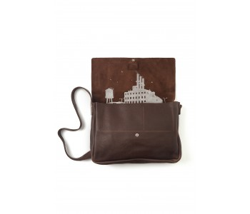 Dark Brown Big Business laptop bag by Keecie