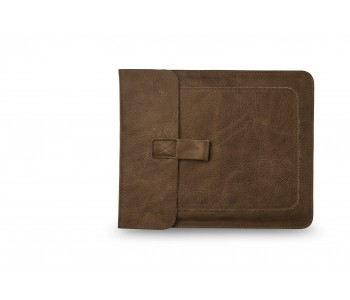 Ipad sleeve Couch Potato by Keecie in the color gray brown