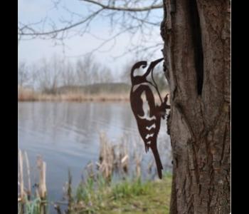 Metal bird Woodpecker by Metalbird for your garden