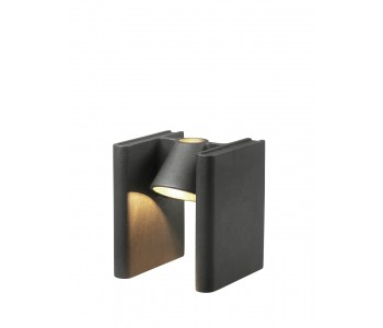 Table-lamp book stand Roderik Vos Functionals frosted black
