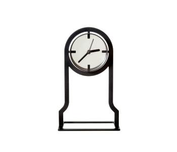 Gispen Outline table clock high from black steel by Peter van de Water