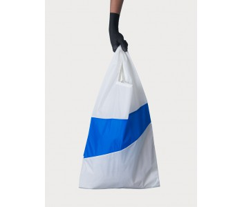 White nylon shopping bag for groceries and shopping