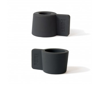 Silly candle holder in anthracite grey; gift set of 2