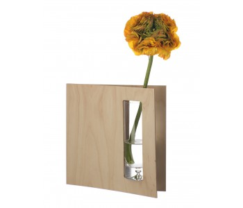 Split vase from Duo Design of birch and glass.